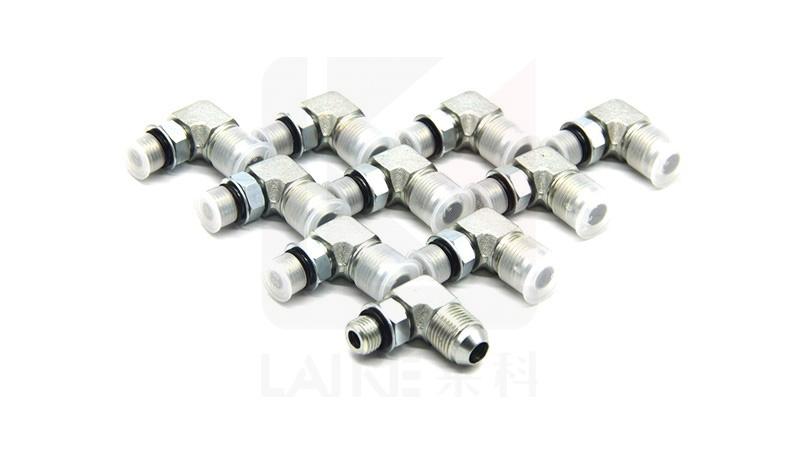 Straight Adapter Brennan 1-1//4 in Male O-Ring Boss x 1-1//2 in Male JIC 37/° Flare Steel